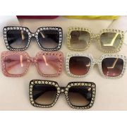 gucci眼鏡專賣店 古馳2017年新款 0148柳釘鏡框時尚眼鏡