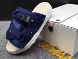 clot x suicoke 涼鞋 2017明星同款 純色復古織帶時尚情侶沙灘拖鞋 深藍米白