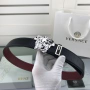 versace皮帶專櫃 範思哲2018新款 HF50牛皮鴕鳥紋鋼扣時尚腰帶