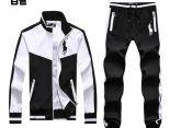 polo raphael lauren 822款 大馬刺繡標拼色撞色男生夾克套裝 白色