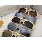 versace台灣專櫃 凡賽斯2017年5月新款眼鏡 2175圓框金屬邊太陽眼鏡