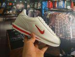 Nike Classic Cortez 2018新款 皮面小勾休閒情侶阿甘鞋 白紅