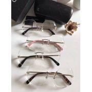 chanel眼鏡 香奈兒2017新款墨鏡 71180時尚無框多邊形平光眼鏡