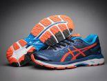 asics慢跑鞋 紐約馬拉松紀念版 亞瑟士緩震時尚男鞋 藍橘色