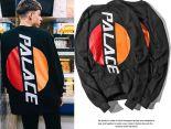 palace衣服 2017新款 字母印花男生圓領長袖衛衣 黑色