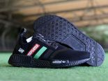 Adidas NMD R1 2018新款 網面ndefeated條紋休閒童鞋 黑紅綠