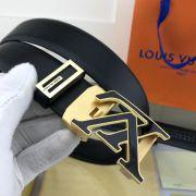 lv皮帶目錄 路易威登2018新款 HF64牛皮黑色扣身時尚鋼扣腰帶
