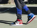 Air Jordan 1 Retro High OG 2018新款 皮質鴛鴦男生休閒板鞋 紅藍白
