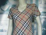 burberry衣服 2018新款 格紋女生V領短袖T恤 MAIGOU6049款