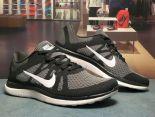 nike air free 4.0 赤足系列v4升級版 飛線編織透氣時尚男生跑鞋 碳灰黑