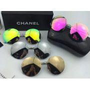 chanel眼鏡 香奈兒2017年6月新款眼鏡 4216圓款無框太陽眼鏡