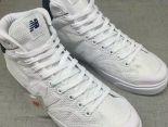 New Balance 板鞋 紐巴倫情侶休閒網面中筒板鞋 白色