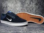 nike sb portmore cnvs 滑板鞋 2017帆布新款 豬八革低幫時尚男生板鞋 深藍色