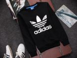 adidas愛迪達 2016新款 燙印三葉草字母標時尚長袖情侶款 黑白色
