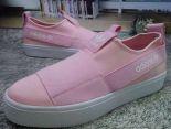 adidas鞋子 2016新款 三葉草一腳蹬綁帶系列 石頭紋女生板鞋 粉色