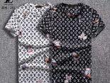 louis vuitton t恤 2018新款 花紋男生休閒圓領短袖T恤 MG201款