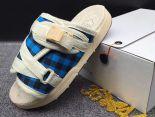 clot x suicoke 涼鞋 2017明星同款 格子復古織帶時尚情侶沙灘拖鞋 米白藍