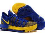 nike kd 10 2018新款 杜蘭特10代運動男生籃球鞋 黃藍