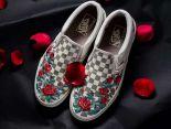 Vans slip on 2018新款 玫瑰情侶休閒懶人鞋