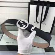 gucci皮帶 古馳2018新款 HF53牛皮雙面鋼扣時尚腰帶