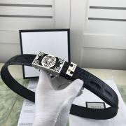 gucci皮帶 古馳2018新款 HF98牛皮鱷魚紋鋼扣時尚腰帶