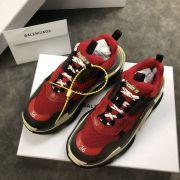 balenciaga鞋 巴黎世家2018新款慢跑鞋 3203組合底拼接情侶鞋 紅灰底