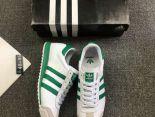 adidas板鞋 2018新款 皮質男生休閒板鞋 白綠