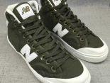 New Balance 板鞋 紐巴倫情侶休閒帆布中筒板鞋 軍綠