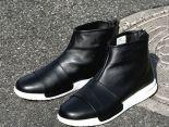 nikelab benassi boot lux 貝納西限量版皮質高幫運動靴男鞋 黑白色