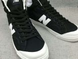 New Balance 板鞋 紐巴倫情侶休閒帆布中筒板鞋 黑白