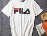 fila斐樂 2018新款 經典字母印花男生休閒短袖T恤 白色